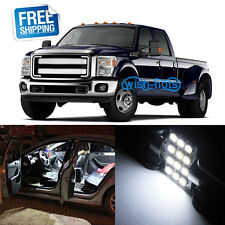 8x White LED Replacement Light Interior Bulb Package for 11-12 Ford F250 F350 F4
