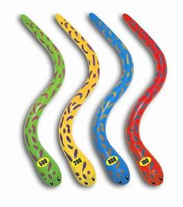 4 pack EEL DIVE GAME Multi-Colored Toy POOL party fun Underwater Diving  91385