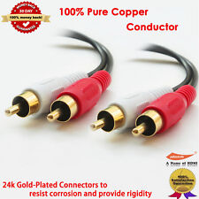 12FT Gold-Plated Value Series RCA Stereo Audio Cable, 100% Pure Copper