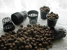 10x 5cm Mesh Pots & Expanded Clay Pebbles BUNDLE!  Aeroponics & Hydroponics