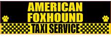 American Foxhound Taxi Service Dog Transport Sticker