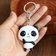 Cute Panda Cartoon Keyring Key Chain Animal Bag Pendant Kawaii Emoji Gift
