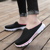 Women Slippers Backless Leisure Walking Shoes Breathable  Outdoor Loafers Shoes