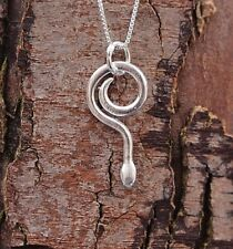 Sterling Silver 925 Snake Pendant & Chain Necklace Pure Origins Sea Gems Gothic