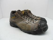 Caterpillar Men's Argon Comp Toe Lace-Up Work Shoes Dark Brown Size 9.5 Wide