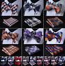 Men's Classic Plaids Bow Tie Self Tie Silk Bowtie Pocket Square Set Wedding  R01