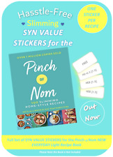 💕Slimming World Friendly  Syn Stickers PINCH of NOM Recipe Book *Not inc💕
