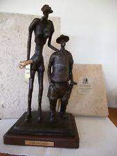 Bronzo Figura Statua Scultura GIOCATORI DI GOLF MAZZA DA GOLF N. Chan LIM. palla da golf