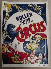 Roller Bros. 3 Ring Circus ArtWork Rare Show Poster-Collection/Gift