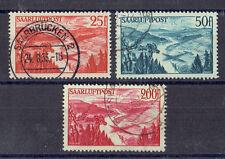 Saar o MiNr 252 - 254 Flugpostmarken