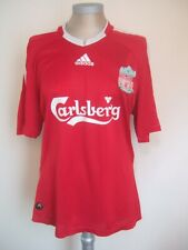 Liverpool 2008 to 2010 red home football shirt. Torres 9. Size Large. Carlsberg