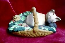 Hallmark Cards Cat In A Basket Christmas Ornament, 1996, Dill, Great Condition