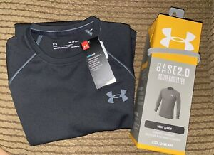 Under Armour Base 2.0 Active Base Layer Black Size Adult Small BRAND NEW IN BOX
