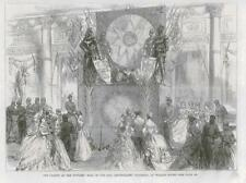 1869 ANTIQUE PRINT-Londres Willis Rooms Officers Ball Inniskilling régiment (173