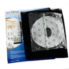 Schwarz Fliegengitter Insektenschutz Fenster Gaze 130x150cm DIY mit Kleber