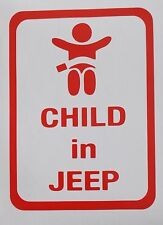 "jeep "" child in jeep"" car  sticker - red"