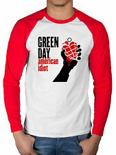 Official Green Day American Idiot 2 Tone Raglan Long Sleeve Top Bullet In Bible