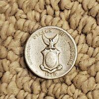 1945 Phillipines 5 Centavos Coin