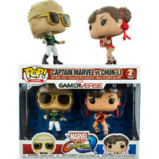 Marvel Vs. Capcom - Captain Marvel Green vs Chun-Li Red Pop! Vinyl Figure 2-Pack