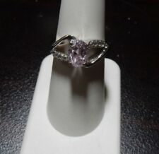 Size 7 Genuine Mawi Kunzite & White Topaz Sterling Silver Ring ATGW 1.86cts