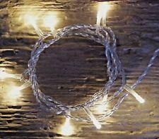 10er LED Lichterkette warmweiß Strom Kabel innenGesamt: 2,75m / Zuleitung 1,5m