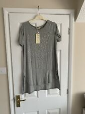 Stunning Miss Charm Paris Star T Shirt M/L BNWT Faux Pearl & Sequin Detail