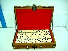 DOMINOES SET IN A TREASURE CHEST BOX