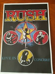 Rush Live In Concert Poster Hand numbered 2858/5000 limited