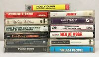 Lot of 13 Cassette Tapes ~ 70's, 80's, 90's, Pop Rock, Yacht Rock, Glam Rock