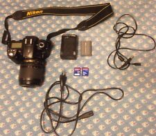 Nikon D90 Digital SLR Camera w/ AF-S DX 18-105mm VR ll Lens, SD, & Wires Bundle