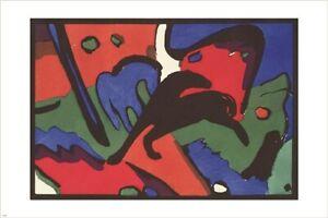 FRANZ MARC & WASSILY KANDINSKY the blue rider VINTAGE ART POSTER rare 24X36