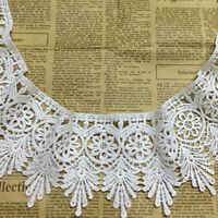 Embroidered 9.5cm Wide Guipure Lace Trim Ribbon Wedding Applique Sewing Craft