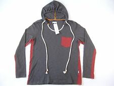 T CHRISTOPHER DARK GRAY RED XL HOODIE SWEATER MENS NWT NEW