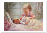 Pretty Little Child care BABY sleep tenderness by Fincher NEW Modern Postcard