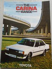 Toyota Carina range brochure Jul 1983
