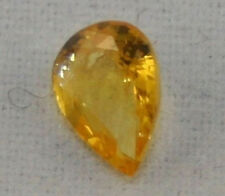 NATURAL YELLOW SAPPHIRE LOOSE GEMSTONE 4.5X6MM FACETED PEAR 0.5CT GEM AA SA6