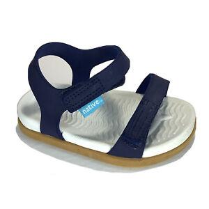 Native Charley Kids Size 6 Toddlers Sandals Regatta Blue Shell White
