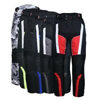 Men's Motorbike Motorcycle Waterproof Cordura Textile Trousers Pants Armours