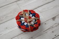 Red, White & Blue Set of 4 Crocheted Coasters