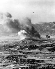 "U.S. 1st Marine Air Wing bombs enemy positions 8""x 10"" Korean War Photo 16"