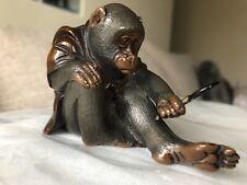 More details for japanese meiji period bronze okimono monkey.