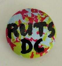RUTS DC VINTAGE METAL BUTTON BADGE FROM THE 1980's PUNK NEW WAVE