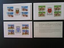 Castles (4) Portugal Booklets of 1986, Used (2 without covers), Colorful