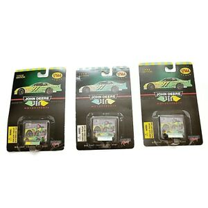 LOT of 3 NEW Vintage John Deere #97 1/144 Die Cast Chassis Body Car 1998 Edition