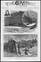 1886 Antique Print - MARITIME Columbine North Sea Mouat Wreck Rescue   (160)