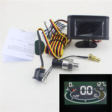 Universal LCD 3in1 Truck Car Oil Pressure Gauge Voltmeter Water Temp Monitor 12V