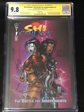 SHI/CYBLADE #1 CGC SS 9.8 SIGNED SILVESTRI AND TUCCI 1ST WITCHBLADE
