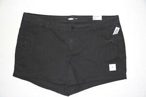 New Old Navy Women's Plus Size 24 Boyfriend Black Denim Shorts