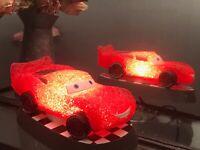 "Sparkle EVA Night Light 8"" Red Race Car Shatter Resistant 7Watt 120Volt"