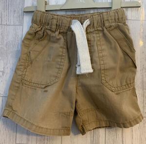 Boys Age 12-18 Months - Next Beige Shorts